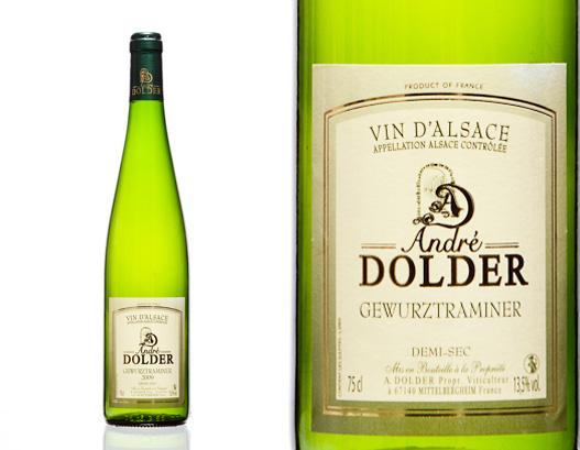 Gewurztraminer Demi Sec Vins et crémant d'AlsaceAndré Dolder
