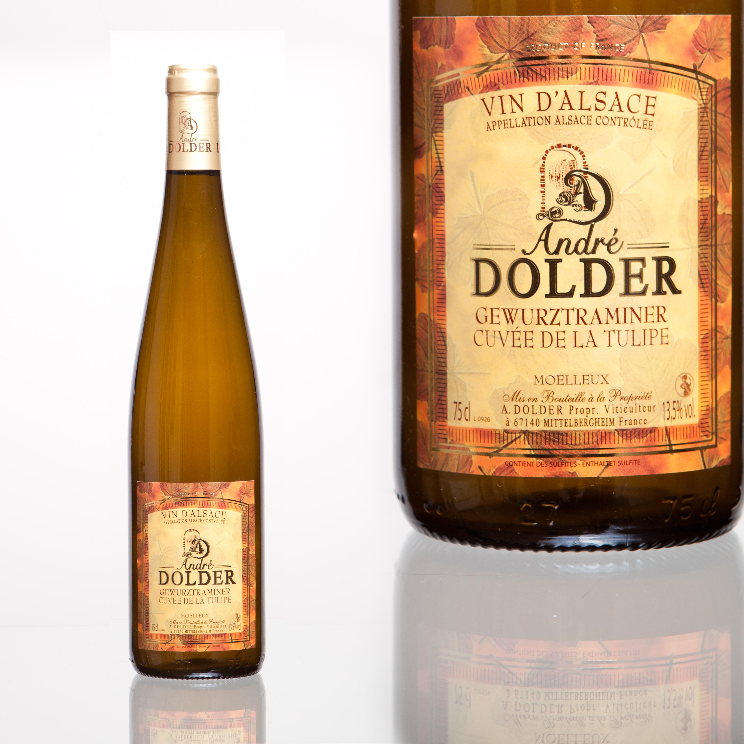 Gewurztraminer Cuvée de la Tulipe Vins et Crémant d'Alsace André Dolder