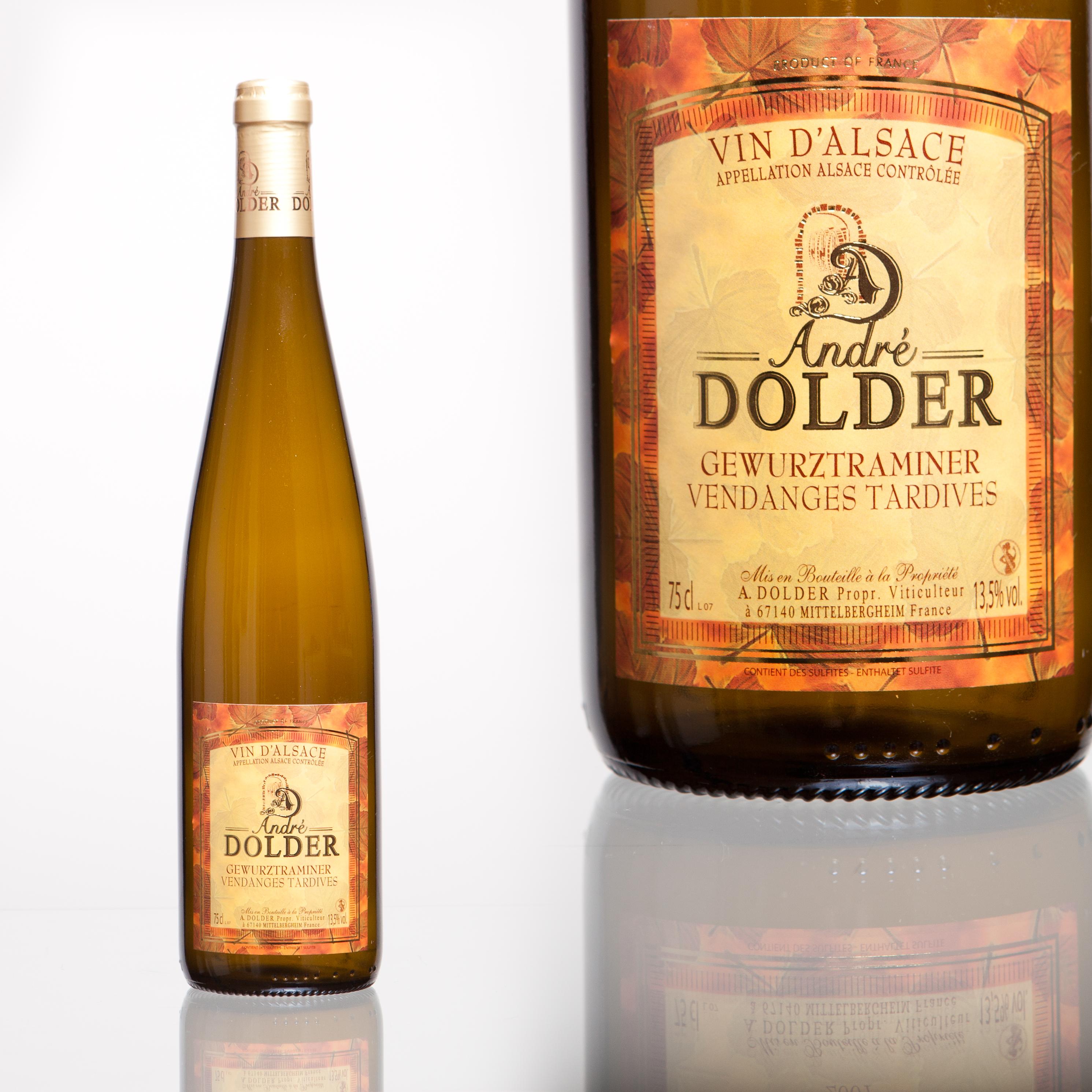 Gewurztraminer Vendanges Tardives Vins et Crémant d'Alsace André Dolder