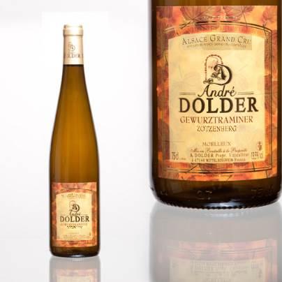 Gewurztraminer Grand Cru Zotzenberg Vins et Crémant d'Alsace André Dolder