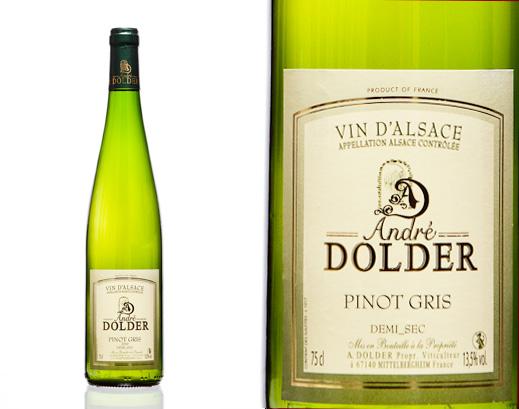 Pinot Gris Demi Sec Vins et Crémant d'Alsace André Dolder
