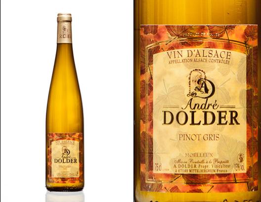 Pinot Gris Moelleux Vins et Ctémant d'Alsace André Dolder