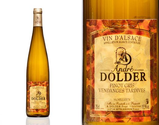 Pinot Gris Vendanges Tardives Vins et Crémant d'Alsace André Dolder