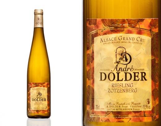Riesling Grand Cru Zotzenberg Vins et Crémant d'Alsace André Dolder